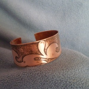 Multi-Wave Design Copper Bracelet