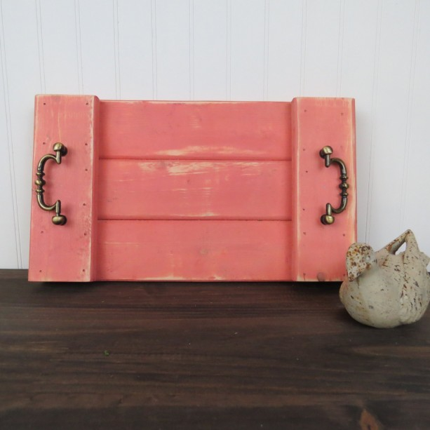 Shabby chic cottage look decorative tray