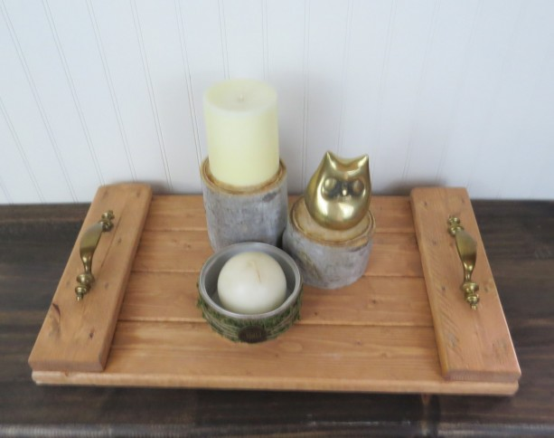 Rustic decorative wooden tray