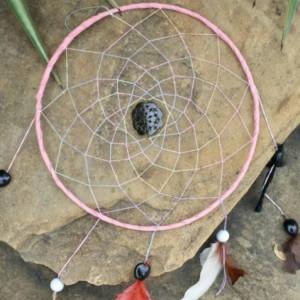 Large Dream Catcher, Pink Dreamcatcher, Wall Hanging, Big Wall Decor, 11 inch Dream catchers, Native America, Spiritual