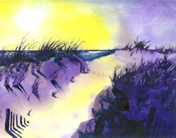 Surf Art, Ocean City, New Jersey, Water Art, Surf, Tropical Art, Beach Art, Grass, Beach, Surfing, Surfboard, Summer Art