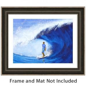 Surf Art, Surfer Art Print, Ocean Wave Art, Water Art, Tropical Art Print, Beach Artwork, Surfing, Hawaii Art, Surfboard Art, Surf board