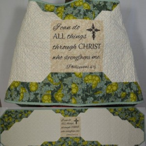 I Can Do All Things Angel Wings Quilted Prayer Shawl