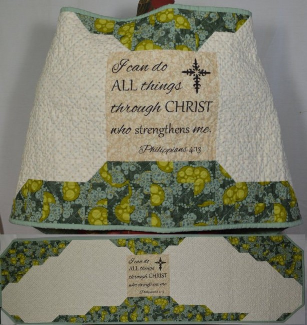 I Can Do All Things Angel Wings Quilted Prayer Shawl | aftcra : quilted prayer shawls - Adamdwight.com