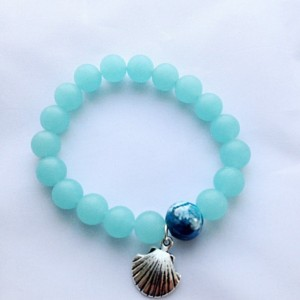 Blue frosted glass Blue  glass Bracelet Frosted glass bracelet Glass bracelet