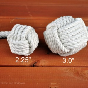 Single Large Monkey Fist Curtain Tieback with Full Loop - Nautical tieback - Heavy Courtain Tieback - Monkey Knot