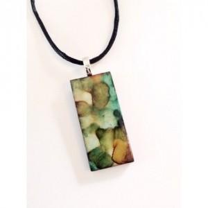 Tile pendant   Southwest Earth tones pendant. Earth tones pendant  necklace. Southwest pendant. Brown pendant. Southwest jewelry. Southwest