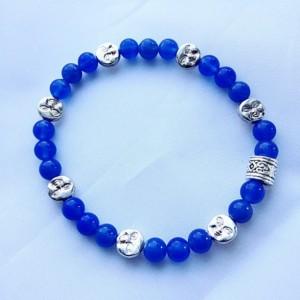 Lapis blue bracelet. Blue and silver bracelet. Mother's Day gift bracelet