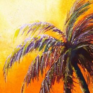 Beach Painting, Surfer Decor, Surf Art Print, Tropical Art, Beach Art Print, Palms, Sunset, Sunset, Hawaii Art, Surfer, Surfboard, Ocean Art
