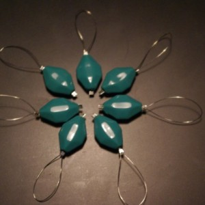 READY TO SHIP Set of 7 Handmade Beaded Stitch Markers Knitting Acrylic Beads