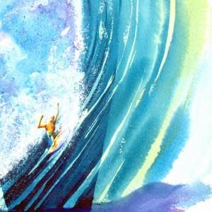 Surfboard Art, Ocean Wave Art, Surf Art Print, Surfer, Tropical Art, Beach Art Print, Surfing, Hawaii Art, Surfer, Surf Decor