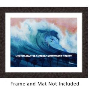 Surfboard, Motivational Quotes, Surf Art, Beach Art Print, Beach Artwork, Tropical Art, Wipe Out, Surfing, Hawaii, Surfer