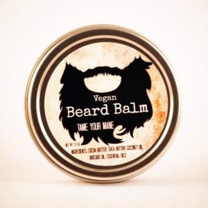 Vegan Beard Balm- The Woodsman, All Natural Beard Care, Beard Conditioner, Vegan Beard Care, Beard Oil