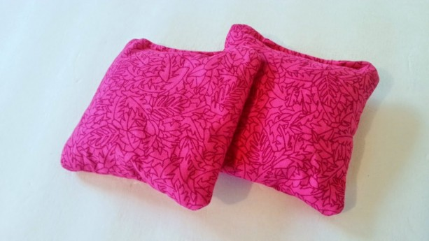 Boo boo bag, hot cold rice bag, ice pack, heat pad, hot pack - hot pink, set of 2