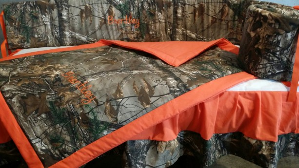 Special*****Camo- Real tree or mossy oak 3 piece crib set-***SALE*****Custom made to order