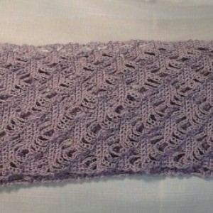 Lacey Lattice Cowl in Orchid Light Purple