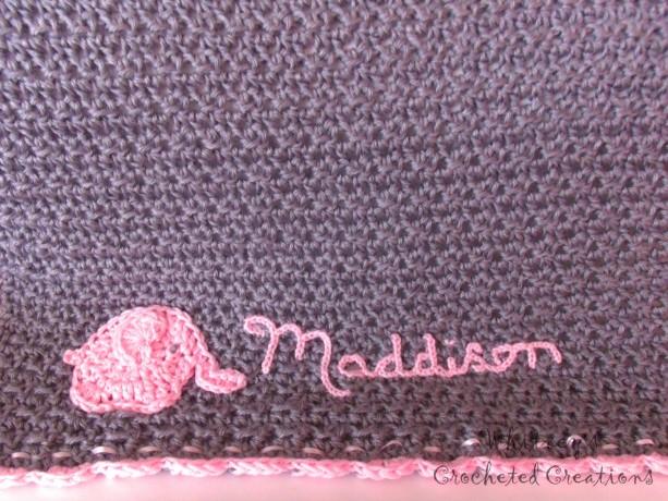 Crochet Elephant Baby Blanket Infant Afghan Personalized