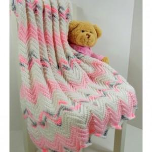 "Chevron Baby Blanket 25 X 30"""