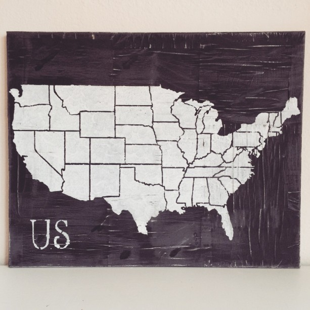 United States Map Map Distressed Map FREE SHIPPING Aftcra - Free paper us map