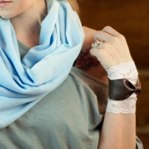 Mint Lace Wrist Cuff