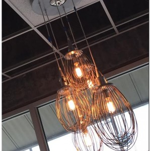 Lighting -Industrial Hanging Lighting - Chandelier - Upcycled Whisk
