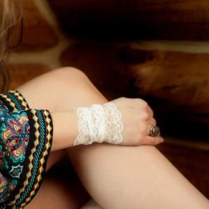 White Lace Wrist Cuff