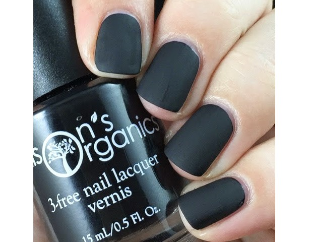 5 Free MATTE Black Nail Polish - Vegan - Beautiful matte lacquer for nail art, as a base or wearing alone - one coat coverage