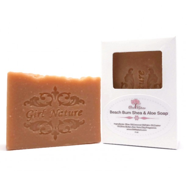 Beach Bum Soap Luxury Soap with Shea Butter , Aloe Vera and Moroccan Red Clay