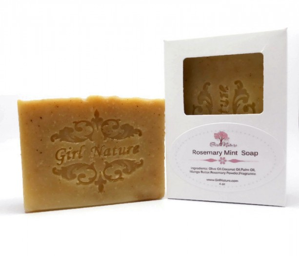 Rosemary Mint Soap Luxury Soap with Natural Mango Butter