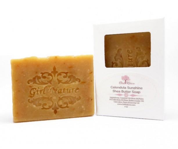 Calendula Sunshine Luxury Soap with Shea Butter and Litsea Essential oil