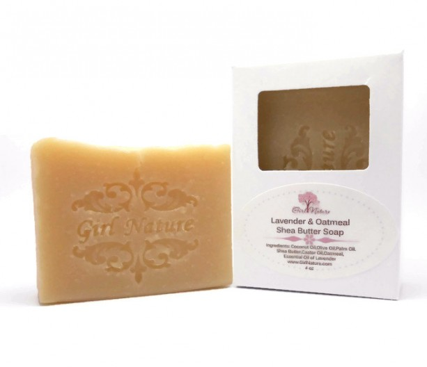 Lavender Oatmeal Soap Luxury Soap with Shea Butter and Lavender Essential Oil