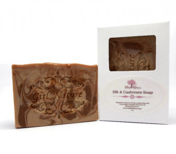 Cashmere Silk Luxury Soap with Organic Cocoa Butter