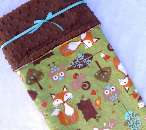 Blankets & Quilts - Kids Bedding - Minky Baby Blanket - Baby Blanket - Woodland Baby Blanket - Fox Baby Blanket - Unisex Baby Blanket