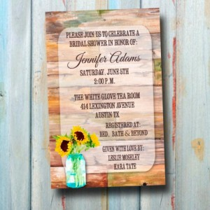 Custom Rustic Sunflower Watercolor Wedding Shower Invitation - Bridal Shower Invitation - Wedding Shower Invitation
