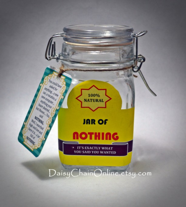 best gag gift a jar of nothing funny gift for boyfriend girlfriend