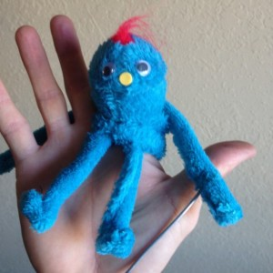 "8"" tall! Tiny Handmade OOAK ultimate Finger puppet Puppet Monster Custom Fun for Everyone full-body soft sculpture doll"