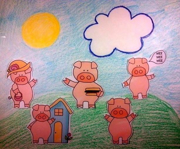 Felt Board Nursery Rhymes, This Little Piggy, Quiet Book, Busy Book, Homeschool, Preschool, Teacher Resource, Pretend, Flannel Board Story
