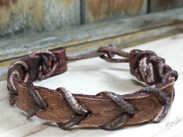Woven Leather Bracelet Vol. 2, Braided Strap, Unisex Bracelet, Durable Bracelet, Tough Jewelry, Leather Rope