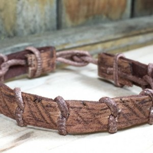 Woven Leather Bracelet Vol. 1, Braided Bracelet, Unisex Bracelet, Rugged Jewelry, Distressed Bracelet, Stained Leather
