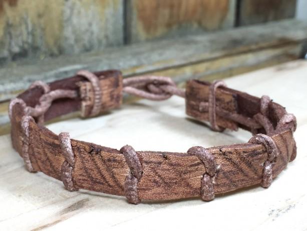Woven Leather Bracelet Vol. 1, Braided Bracelet, Unisex Bracelet, Rugged Jewelry, Distressed Bracelet, Stained Leather