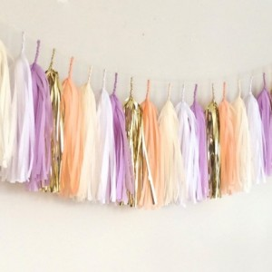 Tulip Tassel Garland // gold // cream // neutrals // event decor // wedding // party // nursery //