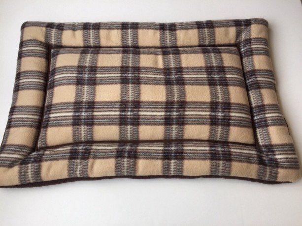 tan brown plaid dog bed, dog crate pads, puppy pad, large crate p