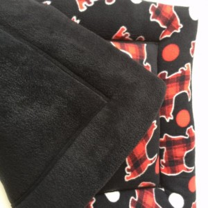 Scotty Dog Bed, Dog Crate Pads, Puppy Pad, Large Crate Pad, Fleece Pet Bed, Scottie Dog Bed, Scottie Dog Fabric, Dog Gift Basket, Dog Gifts