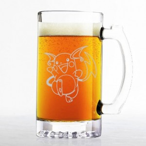 Pokemon - Raichu - Etched Beer Mug