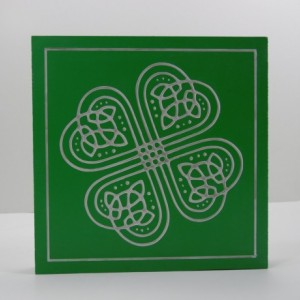 Carved and Painted Shamrock Sign
