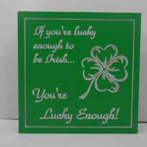 Carved and Painted Irish Luck Shamrock Sign Meme