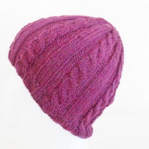 Knit Wool Hat for Women - Wool Cabled Hat - Knit Wool Beanie for Women - Present for Women - Knit Wool Cabled Tam - Knit Wool Ski Beanie