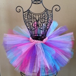 Baby Girl Tutu, Birthday Tutu, Rainbow Tutu, Colorful Tulle Tutu, Baby Tutu, Toddler Tutu, Baby Tutu, Infant Tutu, READY TO SHIP, Pink Tutu