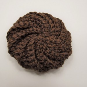 3 Pack Crochet Dish Scrubbies Brown, Red, and Pink