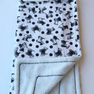 Scottie Dog Blanket, Pet Blanket, Scotty Baby Blanket, Dog Throws, Gifts for Baby Showers, Scottie Dog Pattern, Scottish Terrier Blanket